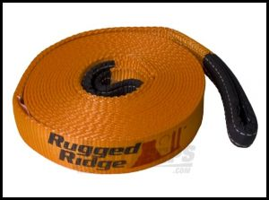"""Rugged Ridge 1""""x15' Recovery Strap Rated 10000lbs For Universal Applications 15104.04"""