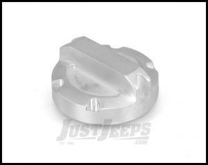 Rugged Ridge Billet Aluminum Oil Cap In Brushed For 2007-11 Jeep Wrangler & Wrangler Unlimited JK 11430.04