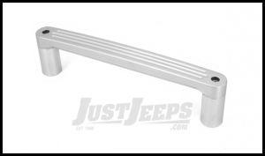 Rugged Ridge Billet Aluminum Passenger Grab Bar Handle In Brushed For 2007-10 Jeep Wrangler & Wrangler Unlimited JK 11421.10
