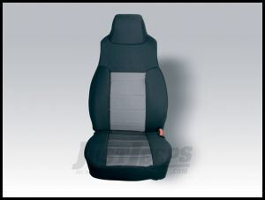 Rugged Ridge Fabric Custom-Fit Front Seat Covers In Grey For 1997-02 Jeep Wrangler TJ 13240.09