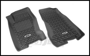 Rugged Ridge Floor Liners Front Black With Jeep Logo For 1999-04 Jeep Grand Cherokee WJ DMC-12920.27