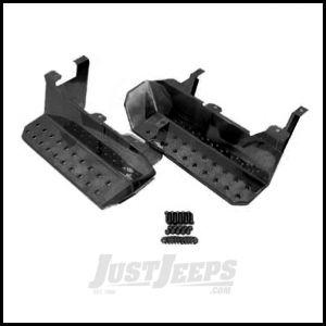 Rugged Ridge OEM Style Side Steps Pair Semi Gloss Black For 1976-86 Jeep CJ Models 11139.02