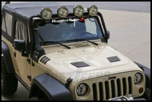 Rugged Ridge Performance Vented Hood Painted Color E Coated Primer For 2007-18 Jeep Wrangler JK 2 Door & Unlimited 4 Door Models 17759.01
