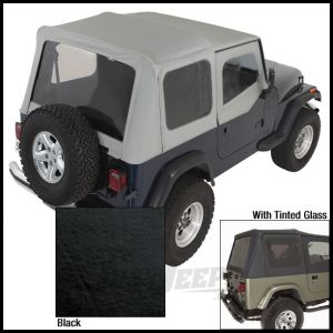 Rugged Ridge Replacement Soft Top Skin Black Diamond With Tinted Windows For 1988-95 Jeep Wrangler YJ (Half Door Model Only) 13702.15