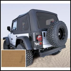 Rugged Ridge (Spice Denim) Replacement Soft Top Skin With Tinted Windows For 1997-02 Jeep Wrangler TJ (Upper Door Skins Included) 13704.37