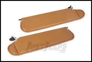 Rugged Ridge Replacement Sun Visors in Camel For 1997-02 Jeep Wrangler TJ 13313.37