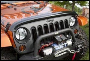 Rugged Ridge Bug Deflector in Smoke For 2007-18 Jeep Wrangler JK 2 Door & Unlimited 4 Door Models 11350.02