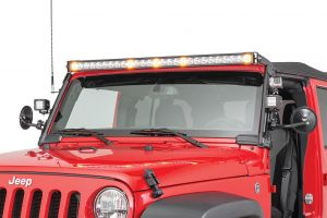 "Quadratec J5 Light Bar with Fasttrack Mounting System & 3"" Cube Lights 90 Flood Beam for 07-18 Jeep Wrangler JK, JKU 97109.1071"