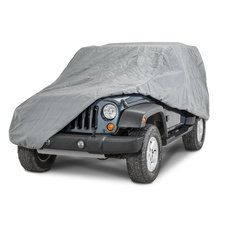 SmittyBilt Complete Jeep Cover With Storage Bag, Lock & Cable In Grey For 2007-18 Jeep Wrangler JK 2 Door 830