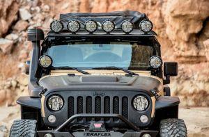 "KC HiLiTES 50"" Overhead Xross Bar Light Mount for 07-18 Jeep Wrangler JK, JKU 97055"