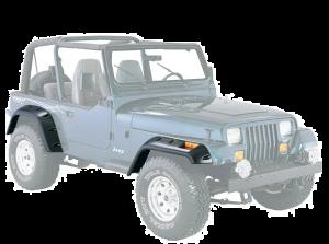 "Quadratec 6"" Pocket Style Fender Flares for 87-95 Jeep Wrangler YJ 12506.0202"