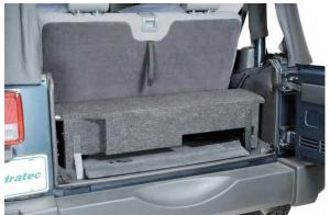 "Quadratec JKFS-BOXL3 Custom Rear Subwoofer Enclosure with 10"" Square Cutout for 07-10 Jeep Wrangler JK 14136.3904"