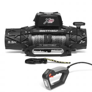 Smittybilt XRC GEN3 9500 lbs Winch Competition Style with Synthetic Rope & Hawse Fairlead 98695