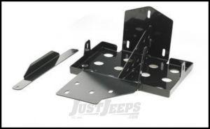 SmittyBilt Dual Battery Tray In Black For 2007-11 Jeep Wrangler JK & Wrangler JK Unlimited Models 2799