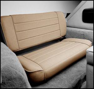 SmittyBilt Rear Fold & Tumble Seat In Spice Denim For 1955-95 Jeep CJ Series & Wrangler YJ 41317