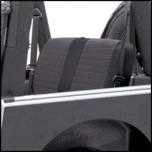 SmittyBilt XRC Rear Seat Cover In Black On Black For 2003-06 Jeep Wrangler TJ & TLJ Unlimited Models 757115