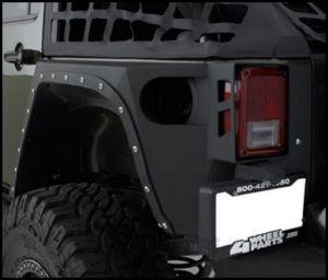 SmittyBilt XRC Armor Rear Corner Guards Pair For 2007-18 Jeep Wrangler JK 2 Door 76881