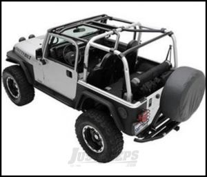SmittyBilt SRC Cage Kit 7 Piece In Gloss Black For 2007-10 Jeep Wrangler JK 2 Door Models 76901