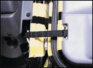 SmittyBilt Adjustable Door Limiting Straps For 1976-06 Jeep Wrangler YJ, TJ & CJ Series 769401