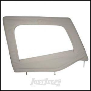 SmittyBilt Soft Upper Door Skin Passenger Side With Frame In Grey Denim For 1987-95 Jeep Wrangler YJ 89511