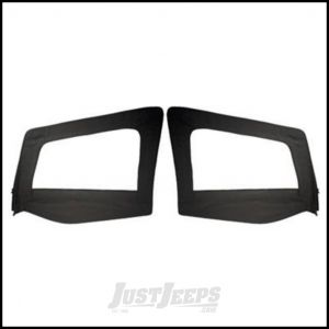 SmittyBilt Soft Upper Door Skins Pair Without Frames In Black Denim For 1987-95 Jeep Wrangler YJ 89615