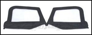 SmittyBilt Soft Upper Door Skins Pair Without Frames In Black Denim For 1997-06 Jeep Wrangler TJ & Wrangler Unlimited 89715