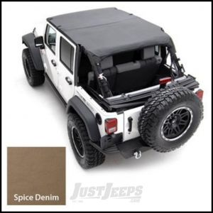 SmittyBilt Strapless Extended Brief Top In Spice Denim For 1992-95 Jeep Wrangler YJ 92917