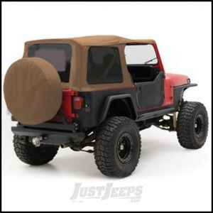SmittyBilt OE Style Replacement Top With Half Door Uppers & Tinted Windows In Spice Denim For 1988-95 Jeep Wrangler YJ With Half Doors Only 9870217