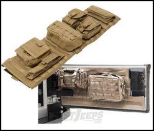 SmittyBilt GEAR Overhead Console & Tailgate Cover Combo Kit In Tan For 1997-06 Jeep Wrangler TJ & Wrangler Unlimited Models GEAROH2