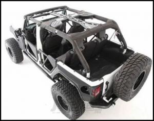 SmittyBilt SRC Roll Cage & Tubular Door PAK For 2007-10 Jeep Wrangler JK Unlimited 4 Door SPTCAGEJK4EPKG