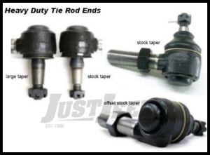 TeraFlex HD Tie Rod End Passenger Side Small Taper For 1997-06 Jeep Wrangler TJ & Unlimited 4920222