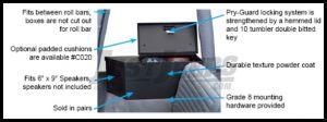 Tuffy Products Rear Fenderwell Speaker & Storage Security Lockbox Set In Black For 1992-95 Jeep Wrangler YJ 020-01