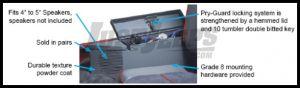Tuffy Products Rear Fenderwell Speaker & Storage Security Lockbox Set In Black For 1997-06 Jeep Wrangler TJ 047-01