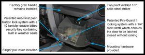 Tuffy Products Security Locking Glove Box In Black For 2007-18 Jeep Wrangler JK 2 Door & Unlimited 4 Door Models 149-01