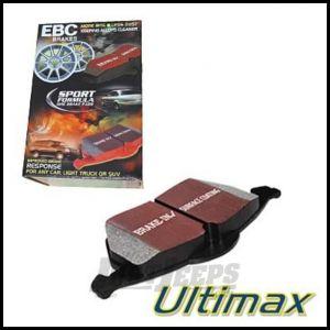 EBC Brakes Front Ultimax Brake Pads For 1997-06 Jeep Wrangler TJ Models, Cherokee XJ & Grand Cherokee ZJ UD712