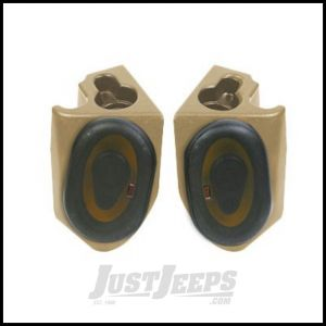 "Vertically Driven Products Deluxe Sound Wedges With 6"" Speakers In Spice For 1980-95 Jeep CJ & Wrangler YJ 53317"