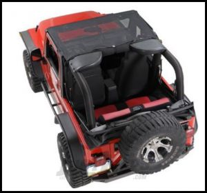 Vertically Driven Products KoolBreez Brief Top In Black For 1997-06 Jeep Wrangler TJ & Unlimited 9702JKB