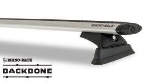 Rhino-Rack Vortex RCL Silver 2 Bar Rhino-Rack Backbone Roof Rack For 2018+ Jeep Wrangler Unlimited JL JB0895