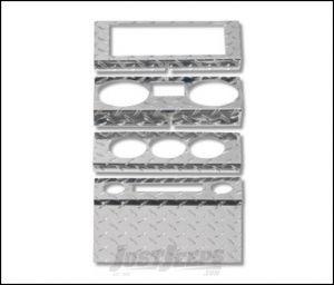 Warrior Products Dash Panel Overlay For 2007-08 Jeep Wrangler JK 2 Door & Unlimited 4 Door Models S90402