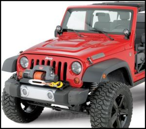 WARN Winch Mounting Plate For 2007-11 Jeep Wrangler JK Unlimited 4 Door Models With Plastic Factory Front Bumper 74247