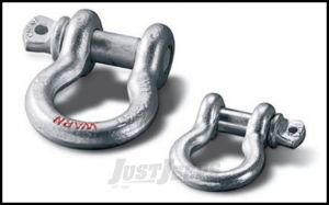 """WARN D-Ring Shackle 1/2"""" Shackle With 1/2"""" Pin 4000lbs (Each) 88998"""