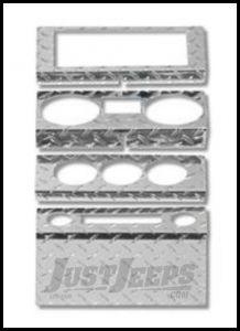 Warrior Products Dash Overlay For 2007-08 Jeep Wrangler JK 2 Door Models 90401