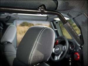 Welcome Distributing Rear GraBars Pair In Black Steel with Black Rubber Grips For 2007-18 Jeep Wrangler JK Unlimited 4 Door Models 1004