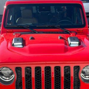 Westin LED Hood Scoops For 2018+ Jeep Gladiator JT & Wrangler JL & JL Unlimited 62-41115