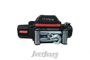 TrailFX 9500lbs Self-Recovery Winch (12V DC) 94' Wire Rope and Roller Fairlead With Wired & Wireless Remote WR95B