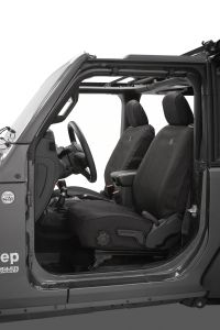 BESTOP Front Seat Covers For 2018+ Jeep Wrangler JL 2 Door Models 29293-