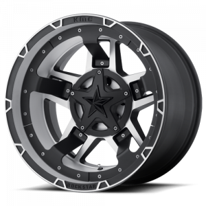 KMC XD827 Rockstar RS3 Machined Face with Black Accents 18x9 5X4.50/5X5 XD82789054500
