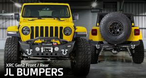 SmittyBilt XRC Gen 2 Front Stubby & Rear Bumper For 2018+ Jeep Wrangler JL 2 Door & Unlimited 4 Door Models Special-01