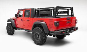 ZROADZ Overland Access Rack With Side Gates & (4) 3 Inch ZROADZ LED Pod Lights for 20+ Jeep Gladiator JT Z834101