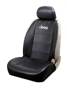 Plasticolor Jeep Logo Sideless Front Seat Cover for Jeep Vehicles with Removable Headrests 008581R01